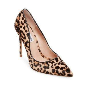 Steve Madden Leopard Print Pumps Heels Calf Hair 8